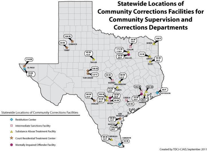 Tdcj Prison Locations Map Related Keywords & Suggestions - Tdcj